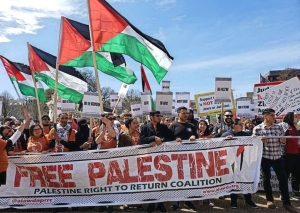 Protesters confront AIPAC conference: 'Free Palestine! Defend Ilhan Omar!'