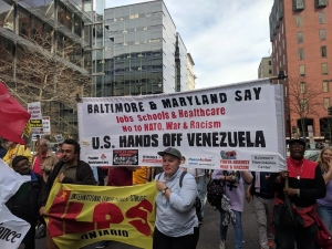 Baltimore May Day - Workers Say US Hands Off Venezuela