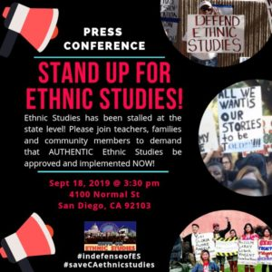 San Diego Sept. 18: Stand up for ethnic studies
