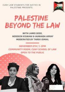 New York Nov. 8: Palestine Beyond the Law