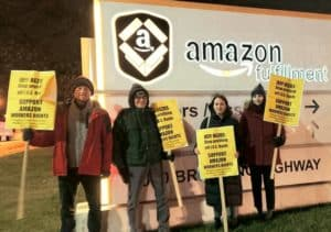 Cyber Monday Baltimore Protest at BWI 2 Amazon Warehouse for Workers Rights